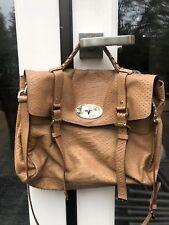 Authentic Mulberry Alexa Handbag Crossbody Medium Tan Embossed Leather - Rare