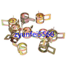 10PCS Motorcycle Dirt Pit Bike Scooter ATV Fuel Hose Tube Pipe Clamp Clips 8MM