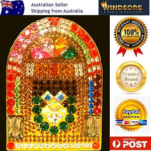 Bon Fae Crystal Jukebox Brooch Pin Retro Design Wurlitzer Covered In Crystals