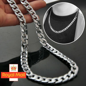 Fashion Men 925 sterling Silver 8MM solid men Curb Chain Necklace 20'' inch NEW