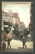Unused Postcard PC Pre 1915 Eastgate St. Chester England Street Train Scene Eng
