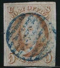 UNITED STATES 1 USED 4 MARGIN BLUE GRID CANCEL