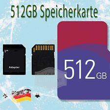 512GB Micro SD Karte TF Speicherkarte mit Adapter Neu Für Android Handy