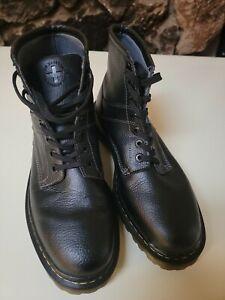 Mens US Size 11 Doc DR MARTENS Roseland Black Rare HTF Pebble Leather Boot uk 10
