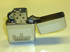 "MARLBORO ""MEDIUM"" ZIPPO LIGHTER WITH LEATHER BAG - 1993 - LIMITED EDITION - RARE"