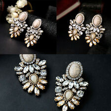 Big Crystal Earring New 2017 Statement Fashion Stud Earring Delicate Design