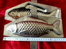 N° 325- ANCIENS MOULES A CHOCOLAT /GROS POISSON 24 cm 2 PARTIES  chocolate mold-