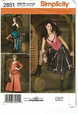 SIMPLICITY PATTERN 2851 MISSES SALOON GIRL COSTUME SIZE RR (14-20)