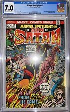 MARVEL SPOTLIGHT 12 CGC 7.0 ORIGIN SON OF SATAN MARVEL COMIC—O/W To White Pages