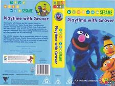 SESAME STREET ~PLAYTIME WITH GROVER    ABC~ VIDEO PAL VHS MINT SEALED