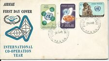 1965 ICY set of 3 FDI Port Moresby 13.10.65 Unaddressed Cover