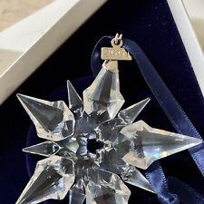 Reduced To Sell! Swarovski 2001 Snowflake Christmas Ornament Ships Free