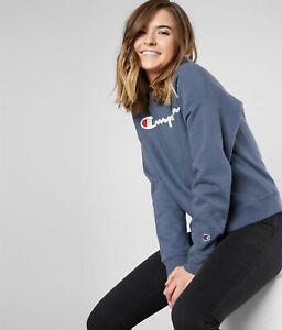 Champion Womens Fitness Activewear Sweatshirt WL265G L Dusted Blue NEW