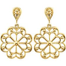 14 k yellow gold decorative earrings