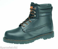 Redwood LH640SM SB P Black Leather Mens Steel Toe Cap Safety Boots Work Boots