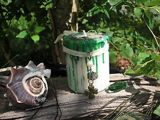 LUCKY WISH CANDLE 4 leaf clover 3 FREE Luck Spells Lucky Charm Talisman Irish