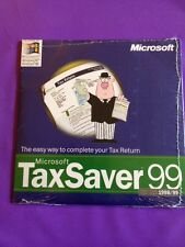 MICROSOFT TAX SAVER 99 NEW & SEALED FOR WINDOWS OS WITH CODE RARE SOFTWARE