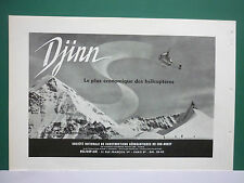7/1955 PUB SNCASO HELICOPTERE DJINN HELICOPTER HUBSCHRAUBER JUNGFRAU LE MONCH AD