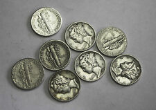 1944-d Mercury Head Dime.Average Grade of Coin You Will Receive is Photographed