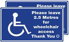 Wheelchair Access to Car / Van.  Window stickers  x 2.