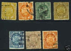 BOLIVIA 1894 Sc. 40-46