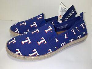 FOCO MLB Espadrille Texas Rangers Canvas Shoe Womens Size Large 9 NEW 🔥