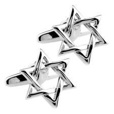 STAR OF DAVID CUFFLINKS Bar Mitzvah Jewish Wedding NEW GIFT BAG Stainless Steel