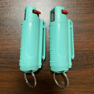 2 pack POLICE PEPPER SPRAY .50oz SOFT Molded Keychain Women Outdoor Self Defense