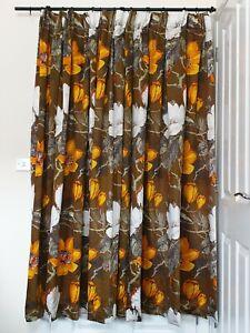 "Pr Vtg/Retro Vibrant Magnolia Unlined Curtains 64""W/69.5""L"
