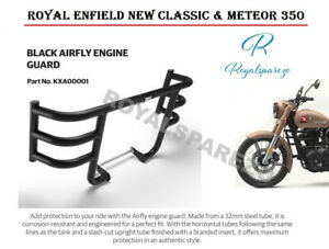 ROYAL ENFIELD NEW CLASSIC & METEOR 350 BLACK AIRFLY ENGINE GUARD