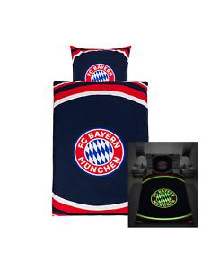 FC Bayern München 2-Teilige Bettwäsche Glow In The Dark 135 x 200 cm