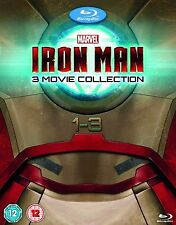 IRON MAN Trilogy Complete Movie Collection Bluray Box set Part 1 2 3 New Sealed