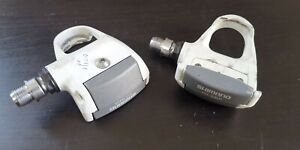 Shimano 600 Ultegra PD-6401 white road bicycle cleat pedal pedals USED