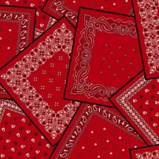 Bandana Fabric, By The Yard, Hanky Panky, BTY, CX9123-REDX-D, TheFabricEdge