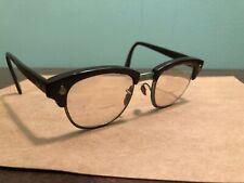AMERICAN OPTICAL AO Eyeglasses Half Rim Burgondy SILVER Frames 4 3/4 Broken