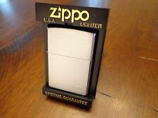 WINSTON CIGARETTES BRUSH CHROME ZIPPO LIGHTER MINT IN BOX 2001