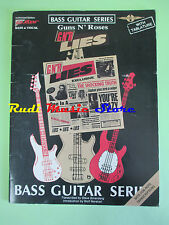 SPARTITO GUNS N ROSES Lies BASS GUITAR SERIES tablature 1989 no cd lp mc dvd