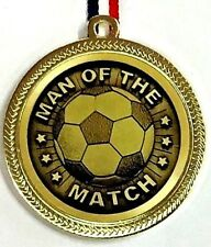 Man of the match Medal 60 mm with Ribbon FREE ENGRAVING & P&P