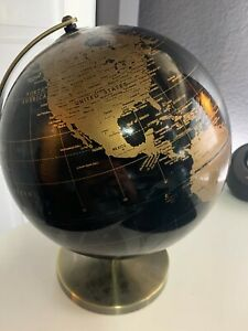 Black and Gold World globe
