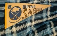 BUFFALO SABRES VINTAGE 1980S ORIGINAL BANNER WELL STORED