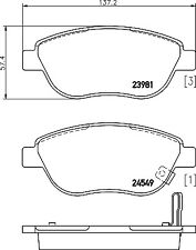 Mintex Front Brake Pad Set MDB2895  - BRAND NEW - GENUINE - 5 YEAR WARRANTY