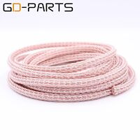 3.28ft/1m 12TC PTFE OCC Speaker Cable HIFI Audio Wire Power Cord DIY 24 Strands