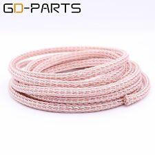 3.28ft/1m 12TC PTFE OCC Speaker Cable HIFI Audio Wire Power Cord DIY 24 Strands