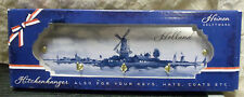 Heinen Delft Metal Kitchen Hanger Dutch Holland Windmill 3 Brass Hooks NIB