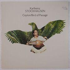STOCKHAUSEN: Ceylon / Bird of Passage USA Chrysalis NM- VINYL LP