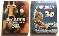 Lot Blu-ray Steelbook : L'AGE DE GLACE 3 & 4 en 3D - avec VF et sst français