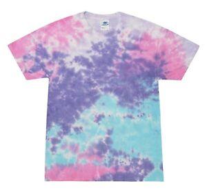 Cotton Candy Tie Dye T-Shirts Adult & Kids Sizes S to  5XL Cotton Colortone