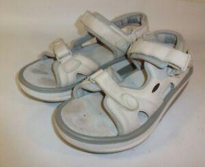MBT Kisumu Rocker Sandals Women's White Leather Comfort - US 9.5