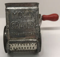 GREAT 1940s Red Handle MOULI  Cheese Grater from FRANCE Kitchen Collectible EUC