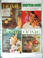 Lot of 4 American Home Magazines 1965 - 1967
